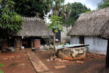 Casas tradicionales mayas