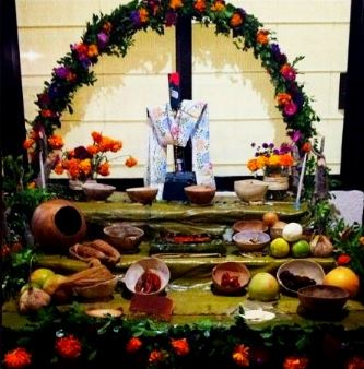 Dia de los muertos celebracion maya