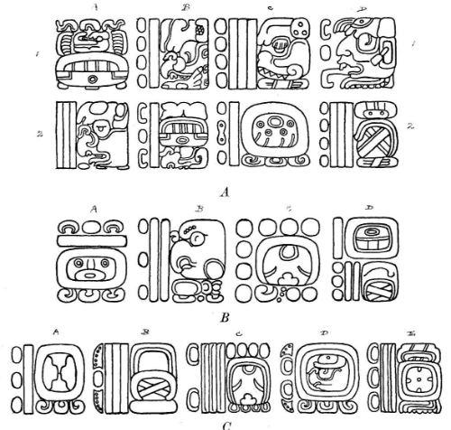 Ejemplo de escritura maya