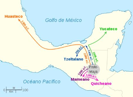 Mapa de lenguas mayas
